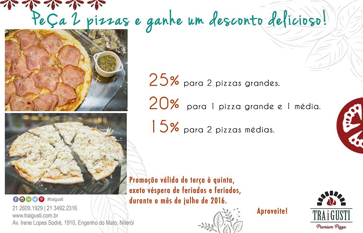 Restaurante e pizzaria Tra i Gusti com desconto